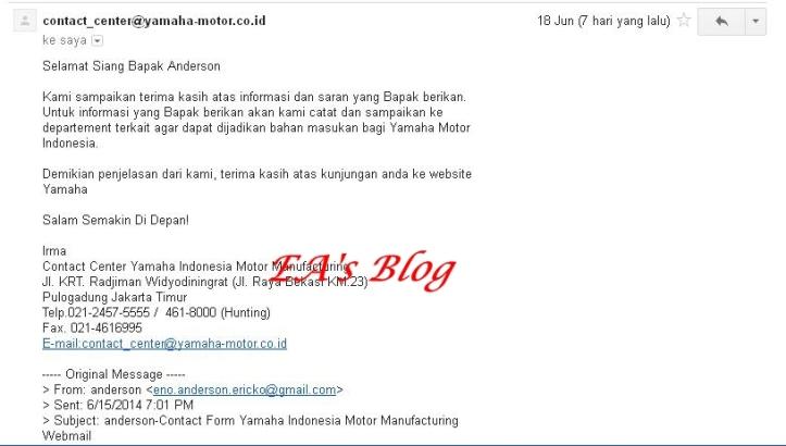 Email Yamaha