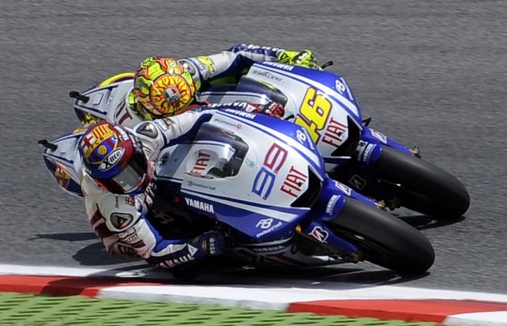 Rossi vs Lorenzo 2009