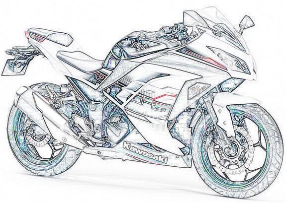 Ninja 250 SE ABS Sketch