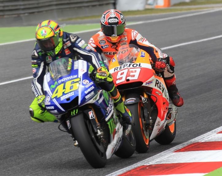 Rossi vs Marquez 2