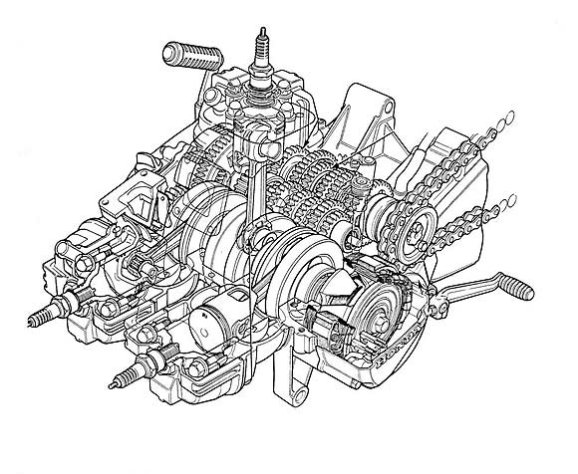 NS400R Engine 2