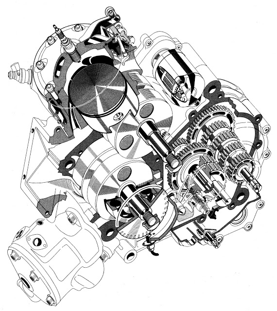 Bimota V-Due Engine 2