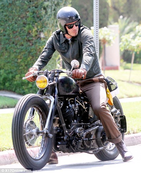 Beckham with Motorcycle
