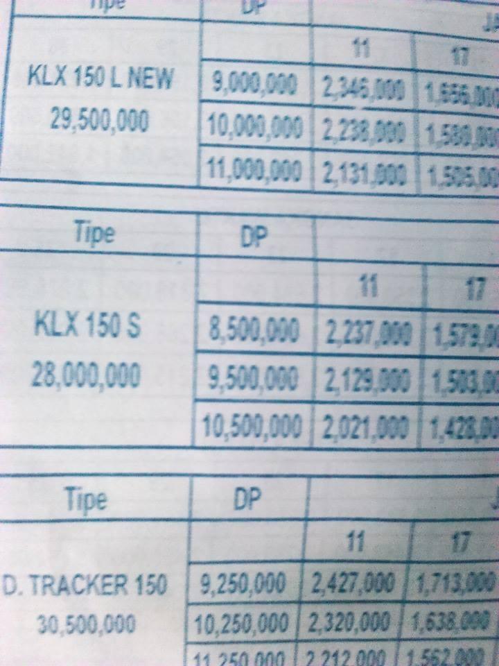 Brosur KLX150