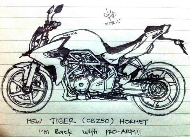 Honda Tiger Sketsa