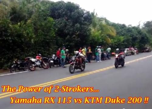 RX 115 vs KTM Duke 200 Main