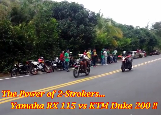 RX 115 vs KTM Duke 200 Main