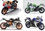 CBR300R vs YZF R25 vs Ninja 300 vs KTM RC390