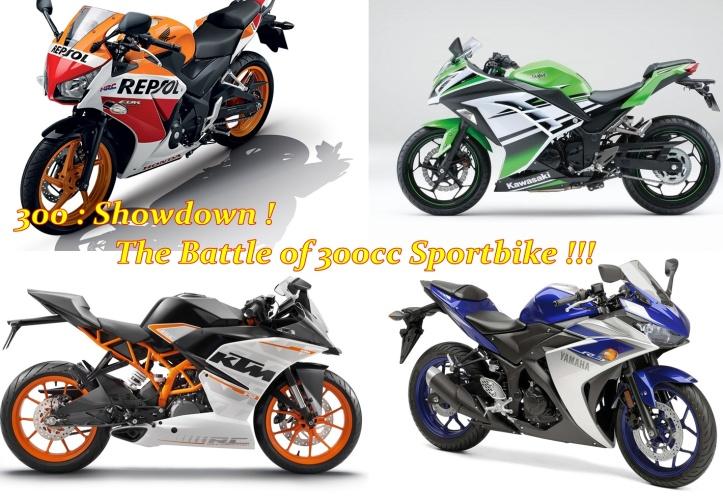 KTM RC390 vs CBR300R vs YZF R25 vs Ninja 300