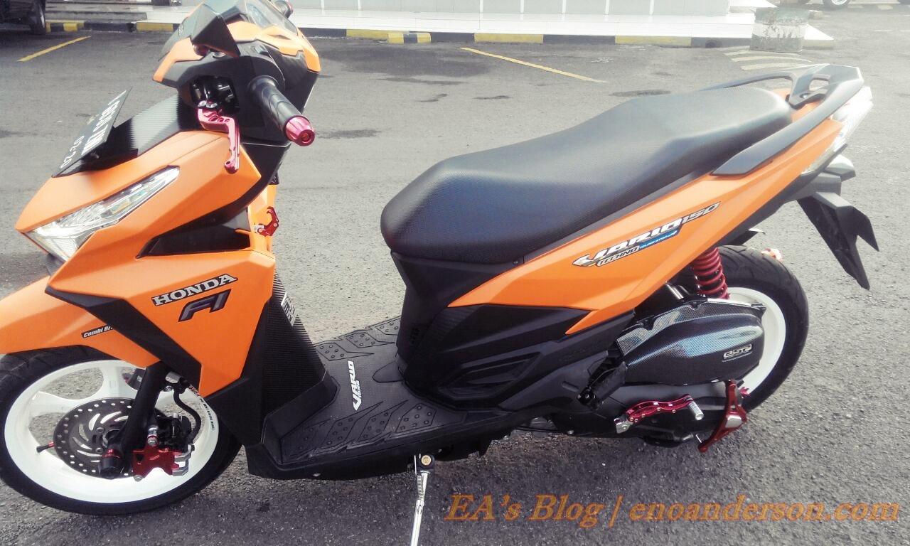 Modifikasi Vario 150 Orange Kumpulan Modifikasi Motor Vario