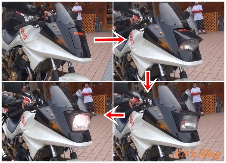 Pop Up Headlights Suzuki Katana 2