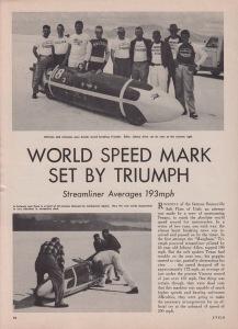 Johnny Allen Triumph Streamliner