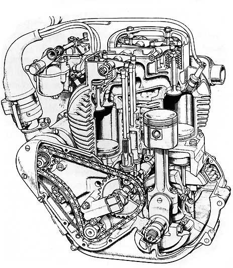 Ariel Square Four Engine