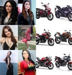 Artis Wanita dan Sepeda Motor