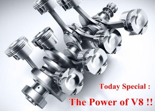 Motor Bermesin V8 8 Silinder