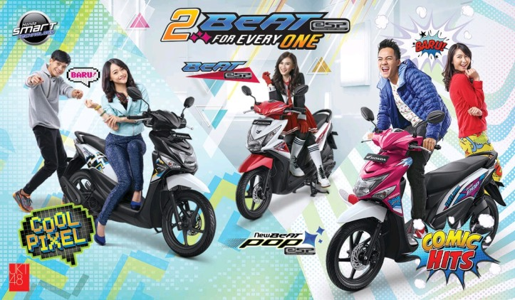 Honda Beat POP Comic Hits & Cool Pixel Terbaru