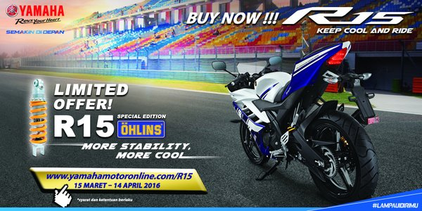 Yamaha YZF R15 Special Edition 2016 with Ohlins