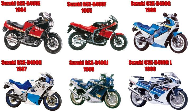 Suzuki GSXR-400 Generations