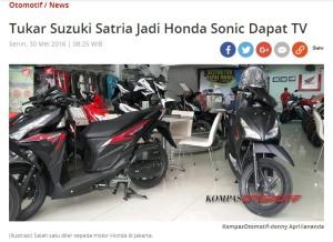 New Honda Sonic 150R Trade In