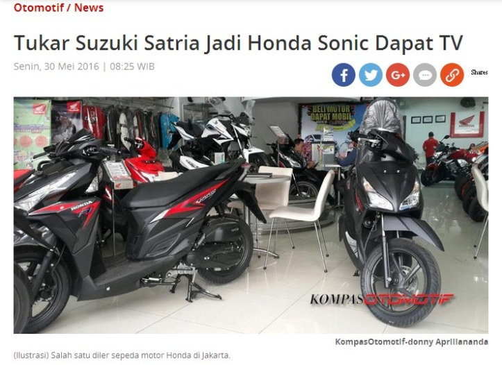 New Honda Sonic 150R Trade In