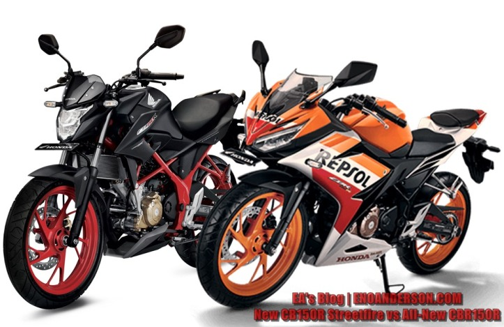 New CB150R Streetfire vs All-New CBR150R (K45G)